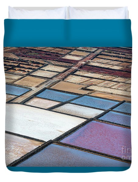 Las Salinas Duvet Cover by Delphimages Photo Creations