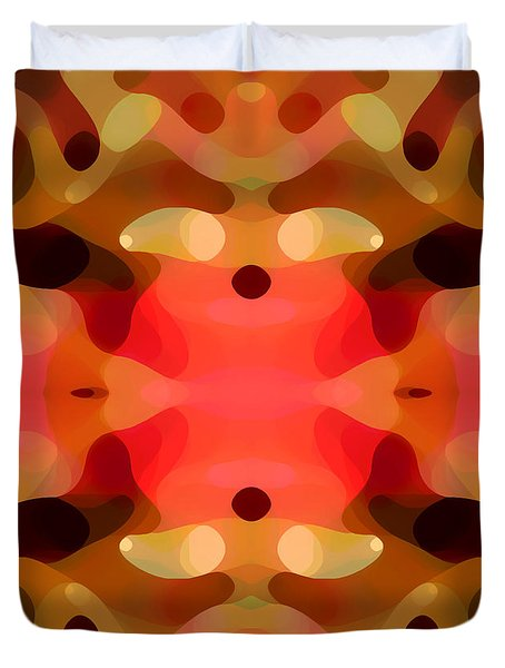 Las Tunas Abstract Pattern Duvet Cover by Amy Vangsgard