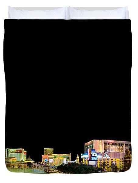 Las Vegas At Night Duvet Cover