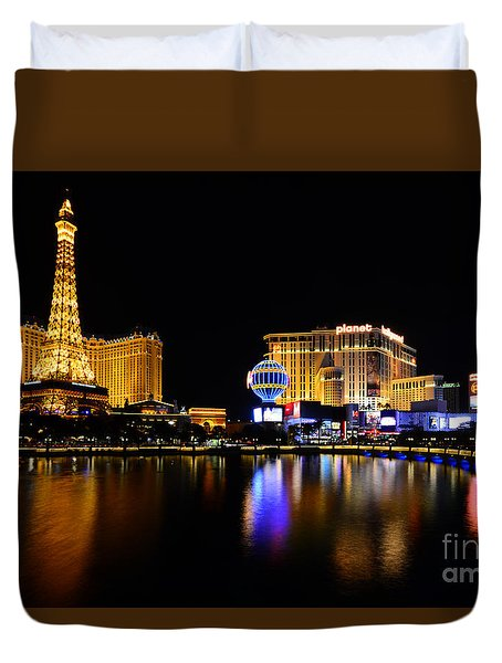 Las Vegas At Night Duvet Cover