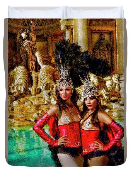 Las Vegas Showgirls Duvet Cover