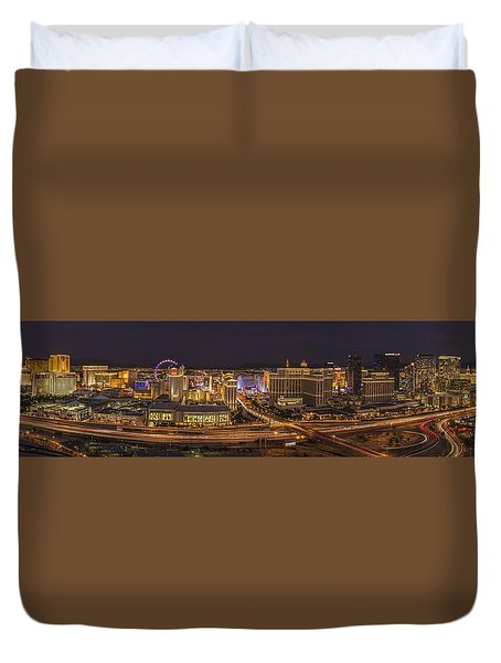 Las Vegas Strip Duvet Cover