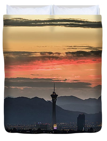 Las Vegas Sunrise July 2017 Duvet Cover