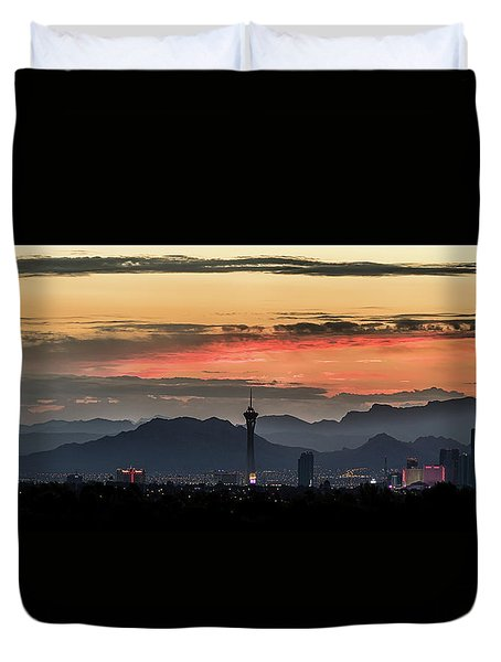 Las Vegas Sunrise July 2017 Duvet Cover