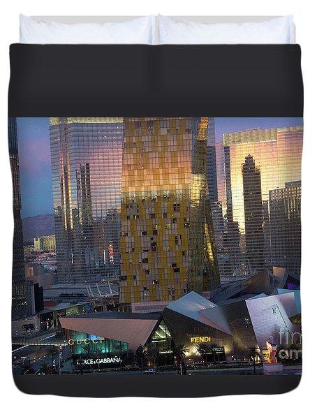 Las Vegas Sunrise Reflection Duvet Cover