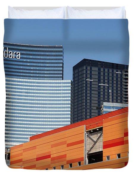 Las Vegas Under Construction Duvet Cover by Susanne Van Hulst