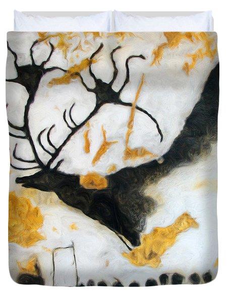 Lascaux Megaceros Deer Duvet Cover