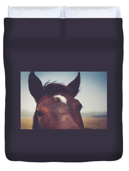 Duvet Cover featuring the photograph Lashes by Shane Holsclaw