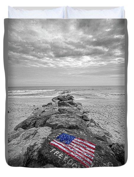Lashley Beach Freedom Duvet Cover