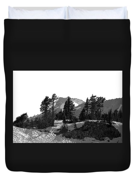 Duvet Cover featuring the photograph Lassen National Park by Lori Seaman