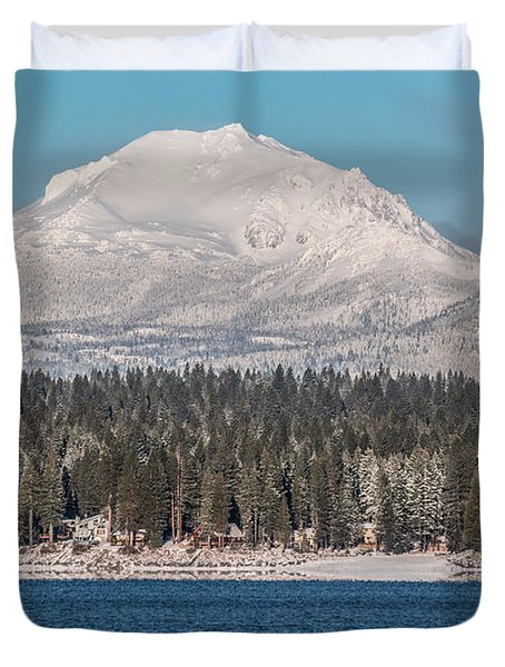 Lassen On Christmas Morning Duvet Cover