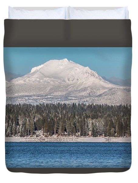 Lassen On Christmas Morning Duvet Cover