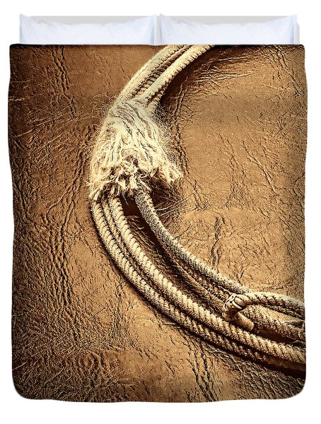 Lasso On Leather Duvet Cover