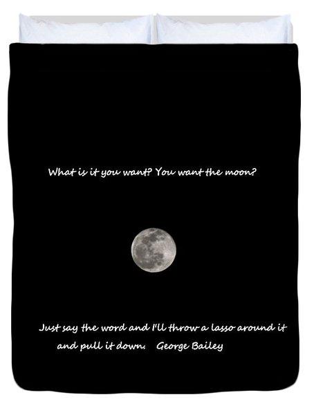 Lasso The Moon Duvet Cover
