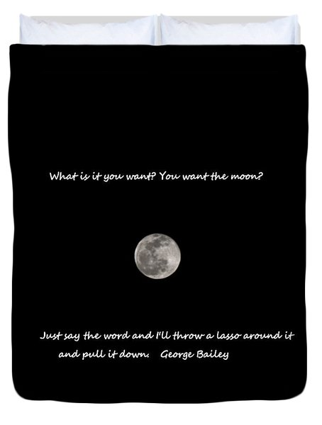 Lasso The Moon Duvet Cover