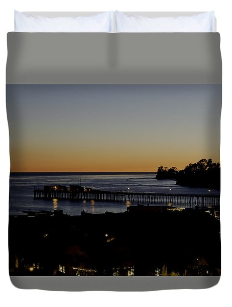 Duvet Cover featuring the photograph Last 2015 Sunset by Lora Lee Chapman