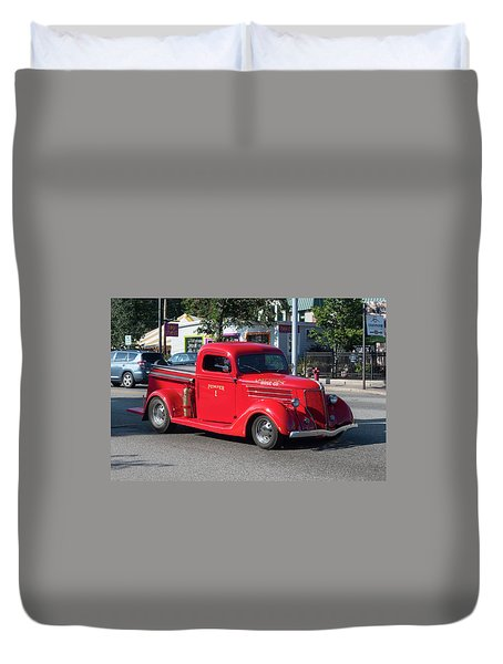 Last Chance Hose Company Duvet Cover by Suzanne Gaff