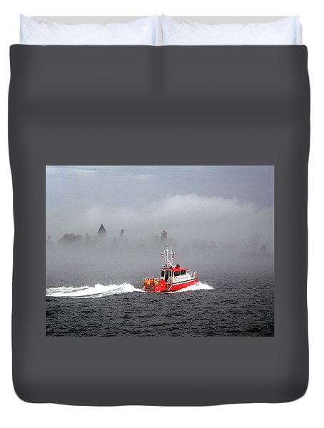 Last Chance Off Calument Island Duvet Cover