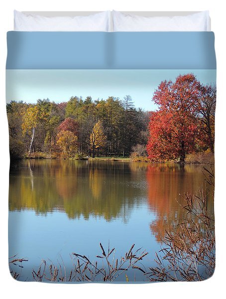 Last Colors Of Fall Duvet Cover by Teresa Schomig