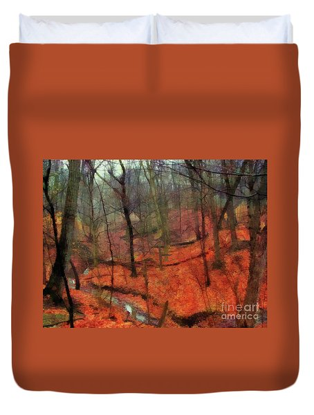 Last Days Of Autumn Duvet Cover by Cedric Hampton