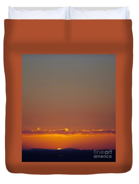 Last Glance Duvet Cover by Victor K