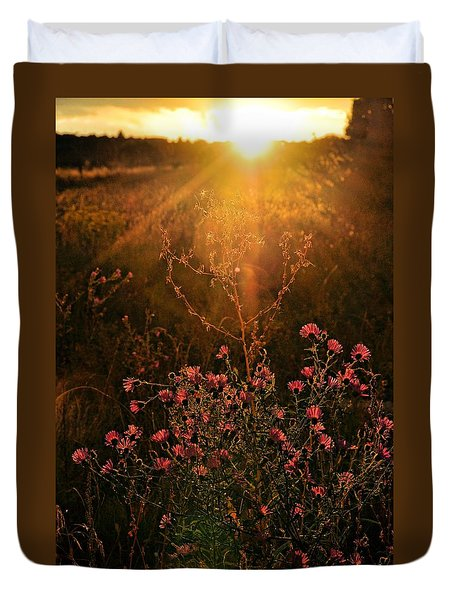 Duvet Cover featuring the photograph Last Glimpse Of Light by Jan Amiss Photography