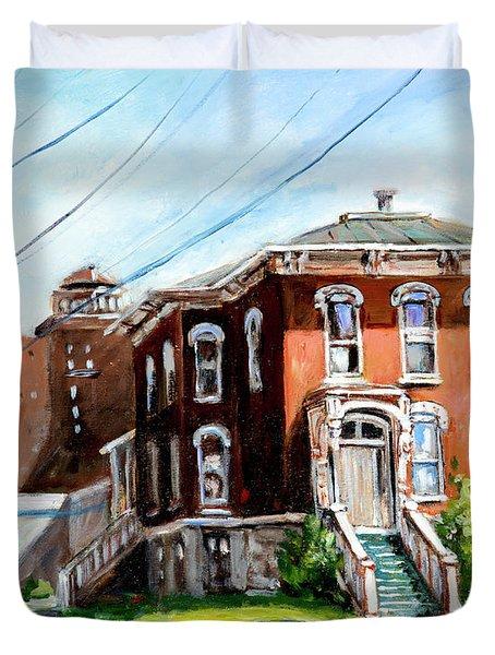 Last House Standing Duvet Cover
