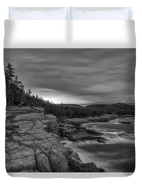 Last Light At Otter Cliff Duvet Cover