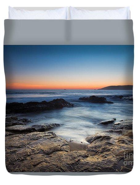 Last Light At Shell Beach Duvet Cover