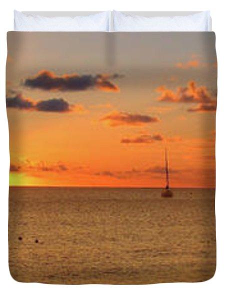 Last Light Frigate Bay Duvet Cover