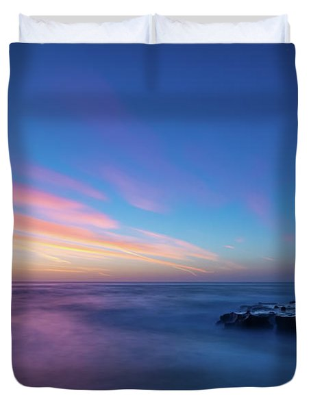 Last Light In April, Sunset Clifs Duvet Cover