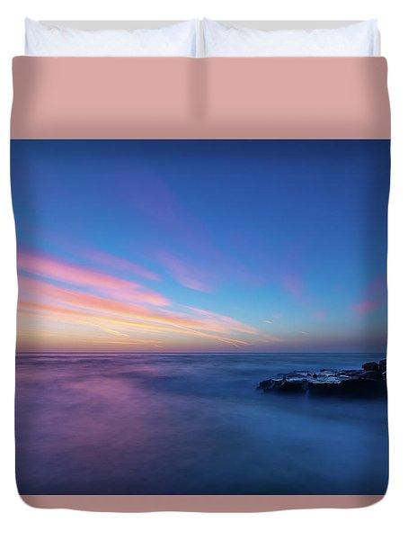 Last Light In April, Sunset Clifs Duvet Cover