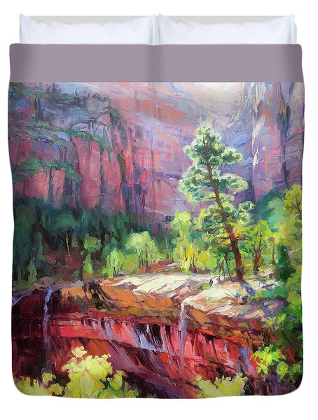 Last Light In Zion Duvet Cover