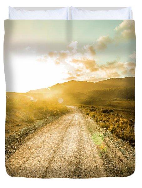 Last Light Lane Duvet Cover