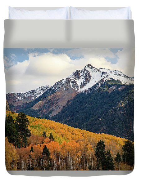 Duvet Cover featuring the photograph Last Light Of Autumn by David Chandler