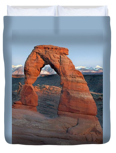 Last Light On Delicate Arch  Duvet Cover