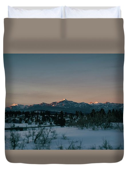 Last Light On Pagosa Peak Duvet Cover