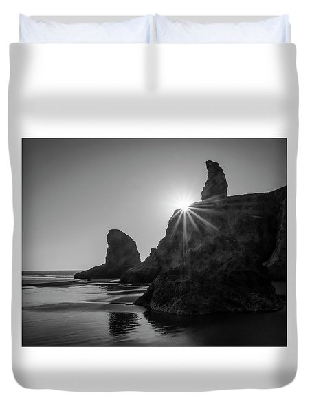 Last Light On The Coast Duvet Cover