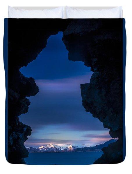 Last Light Through Lava Duvet Cover
