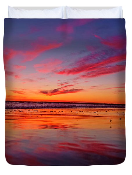 Last Light Topsail Beach Duvet Cover