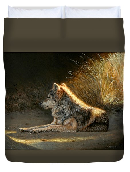 Last Light - Wolf Duvet Cover