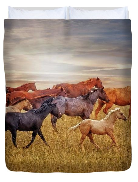 Last Light's Run Duvet Cover