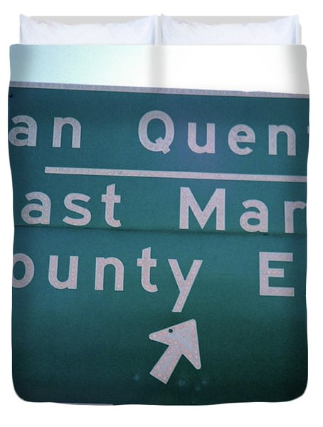 Last Marin County Exit Duvet Cover
