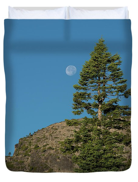 Last Moments Of A Full Moon Duvet Cover