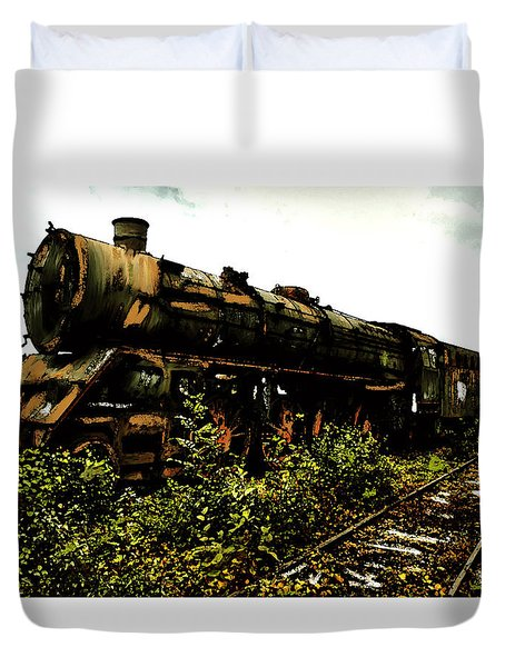 Last Of The 309  Steam Train  Duvet Cover