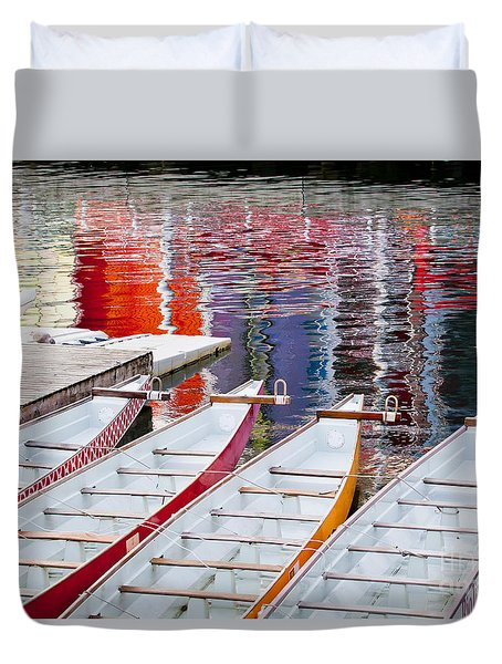 Last Of The Dragon Boats Duvet Cover