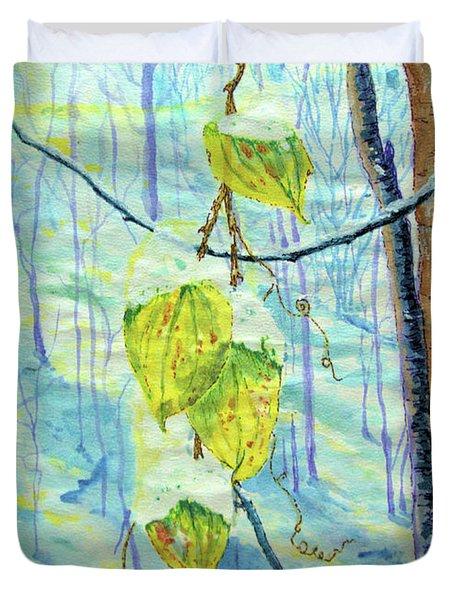 Last Of The Leaves Duvet Cover