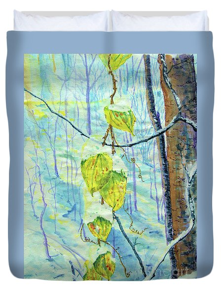 Last Of The Leaves Duvet Cover