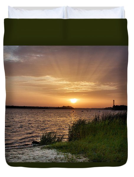 Last Rays Of The Day Duvet Cover