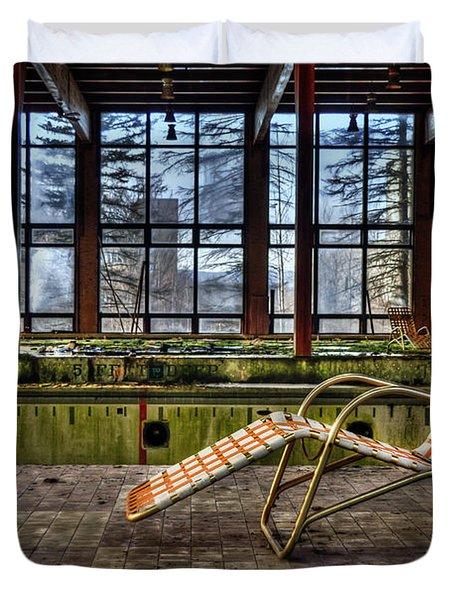 Last Resort Duvet Cover by Evelina Kremsdorf
